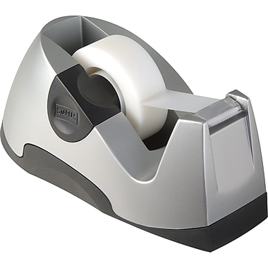 Staples Executive Desktop Tape Dispenser, Silver