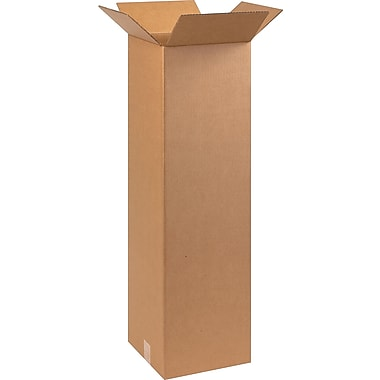 10in.(L) x 10in.(W) x 36in.(H) - Staples Corrugated Shipping Boxes, 25/Bundle
