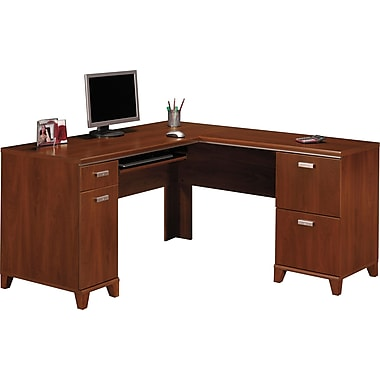 Bush Furniture Tuxedo L-Desk, Hansen Cherry