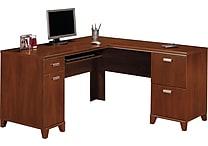 Bush Tuxedo L-Desk, Hansen Cherry