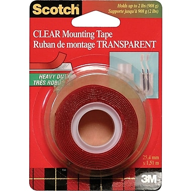 Scotch™ Mounting Tape, Heavy-Duty Clear