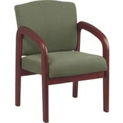 Office Star™ Wood Guest Chair, Cherry Finish Wood with Moss Fabric