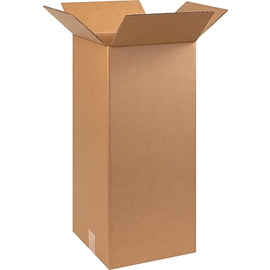 10in.(L) x 10in.(W) x 24in.(H) - Staples Corrugated Shipping Boxes