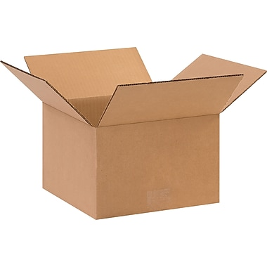 10in.(L) x 10in.(W) x 6in.(H) - Staples Corrugated Shipping Boxes, 25/Bundle