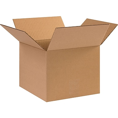 10in.(L) x 10in.(W) x 8in.(H) - Staples Corrugated Shipping Boxes