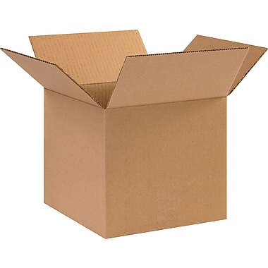 10in.(L) x 10in.(W) x 9in.(H) - Staples Corrugated Shipping Boxes