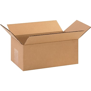 10in.(L) x 6in.(W) x 4in.(H) - Staples Corrugated Shipping Boxes, 25/Bundle