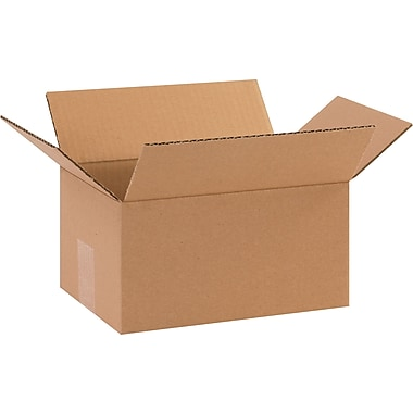 10in.(L) x 7in.(W) x 5in.(H) - Staples Corrugated Shipping Boxes