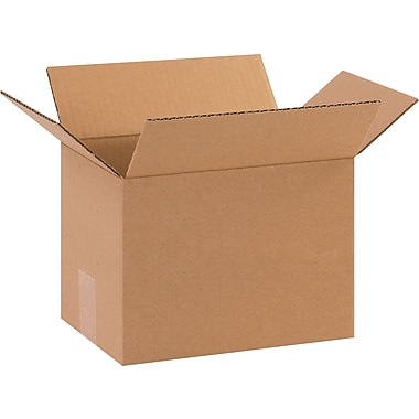10in.(L) x 7in.(W) x 7in.(H) - Staples Corrugated Shipping Boxes, 25/Bundle
