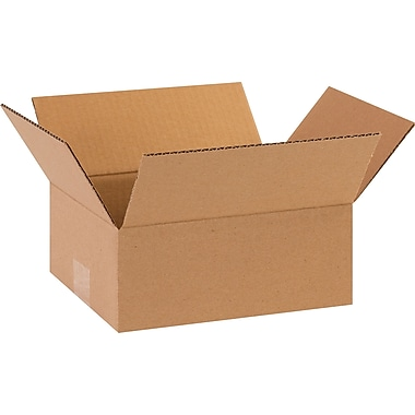 10in.(L) x 8in.(W) x 4in.(H) - Staples Corrugated Shipping Boxes, 25/Bundle