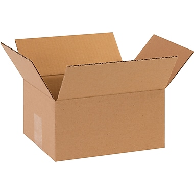 10in.(L) x 8in.(W) x 5in.(H) - Staples Corrugated Shipping Boxes, 25/Bundle