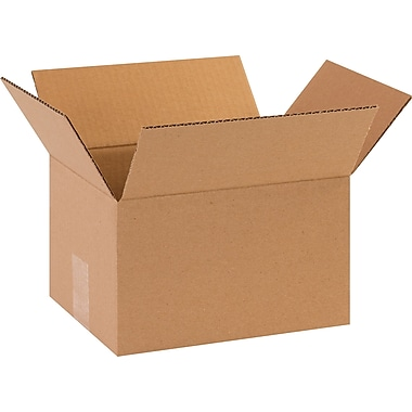 10in.(L) x 8in.(W) x 3in.(H) - Staples® Corrugated Shipping Boxes, 25/Bundle