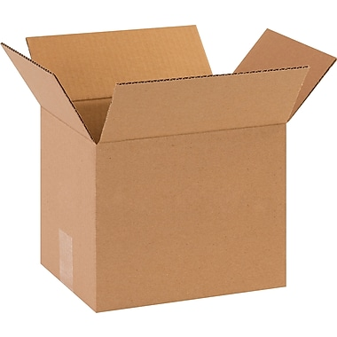 10in.(L) x 8in.(W) x 8in.(H) - Staples Corrugated Shipping Boxes, 25/Bundle