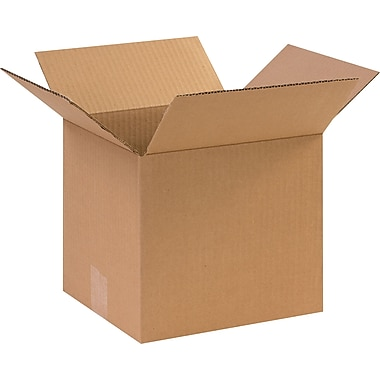 10in.(L) x 9in.(W) x 9in.(H) - Staples Corrugated Shipping Boxes