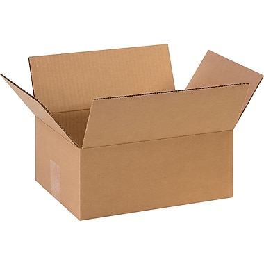 11-3/4in.(L) x 8-3/4in.(W) x 4-3/4in.(H) - Staples Corrugated Shipping Boxes, 25/Bundle