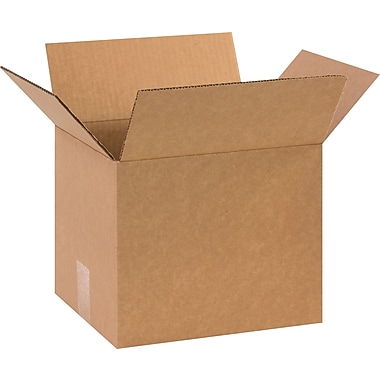 11in.(L) x 9in.(W) x 9in.(H) - Staples Corrugated Shipping Boxes, 25/Bundle