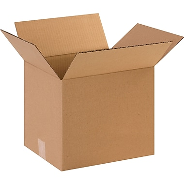 12in.(L) x 10in.(W) x 10in.(H) - Staples Corrugated Shipping Boxes, 25/Bundle