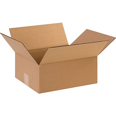12in.(L) x 10in.(W) x 5in.(H)- Staples Corrugated Shipping Boxes, 25/Bundle