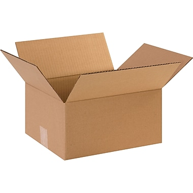 12in.(L) x 10in.(W) x 6in.(H) - Staples Corrugated Shipping Boxes, 25/Bundle