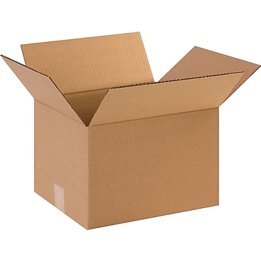 12in.(L) x 10in.(W) x 9in.(H)- Staples Corrugated Shipping Boxes, 25/Bundle