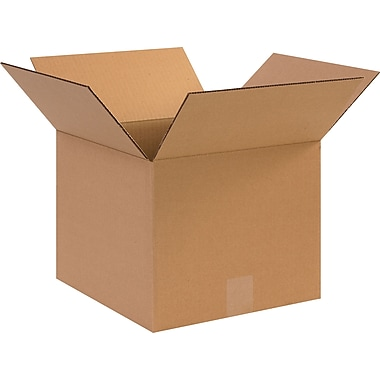 12in.(L) x 12in.(W) x 10in.(H) - Staples Corrugated Shipping Boxes, 25/Bundle