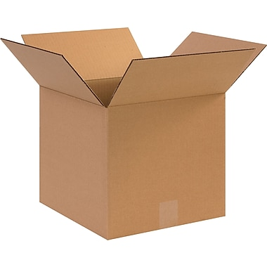 12in.(L) x 12in.(W) x 11in.(H)- Staples Corrugated Shipping Boxes, 25/Bundle