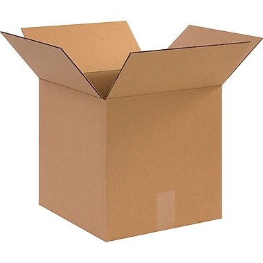 12in.(L) x 12in.(W) x 12in.(H)- Staples Corrugated Shipping Boxes, 25/Bundle