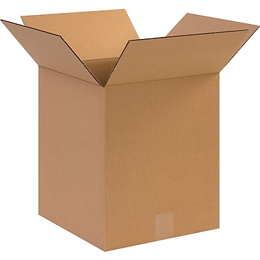 12in.(L) x 12in.(W) x 14in.(H)- Staples Corrugated Shipping Boxes, 25/Bundle