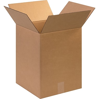 12in.(L) x 12in.(W) x 16in.(H)- Staples Corrugated Shipping Boxes