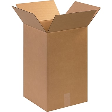 12in.(L) x 12in.(W) x 20in.(H)- Staples Corrugated Shipping Boxes, 25/Bundle