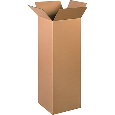 12in.(L) x 12in.(W) x 36in.(H)- Staples Corrugated Shipping Boxes