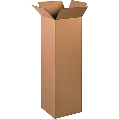12in.(L) x 12in.(W) x 40in.(H) - Staples Corrugated Shipping Boxes