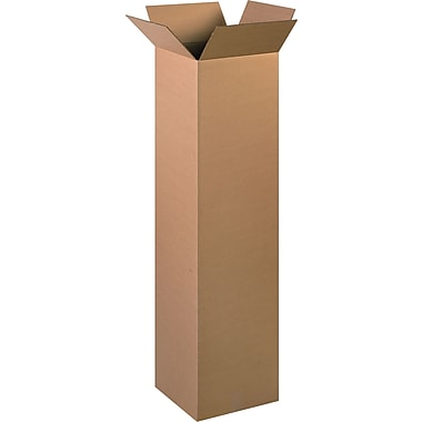 12in.(L) x 12in.(W) x 48in.(H) - Staples Corrugated Shipping Boxes, 15/Bundle