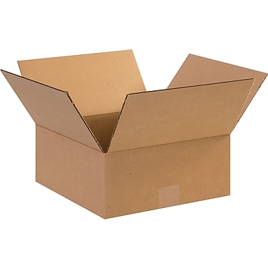 12in.(L) x 12in.(W) x 5in.(H) - Staples Corrugated Shipping Boxes, 25/Bundle