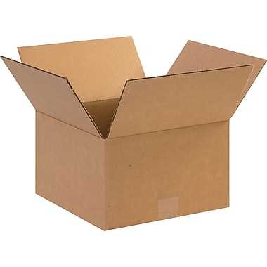 12in.(L) x 12in.(W) x 7in.(H)- Staples Corrugated Shipping Boxes, 25/Bundle