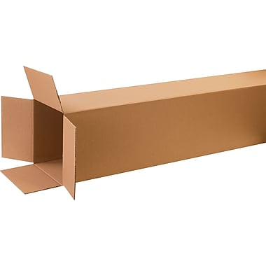 12in.(L) x 12in.(W) x 72in.(H)- Staples Corrugated Shipping Boxes, 10/Bundle