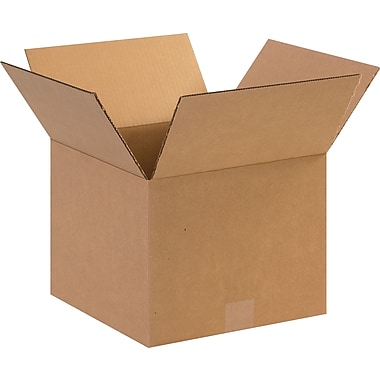 12in.(L) x 12in.(W) x 9in.(H)- Staples Corrugated Shipping Boxes, 25/Bundle