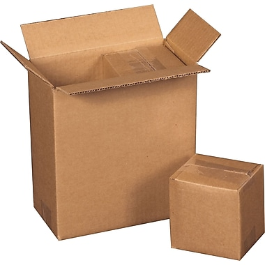 12.75in.(L) x 6.375in.(W) x 13.5in.(H) - Staples Corrugated Shipping Boxes