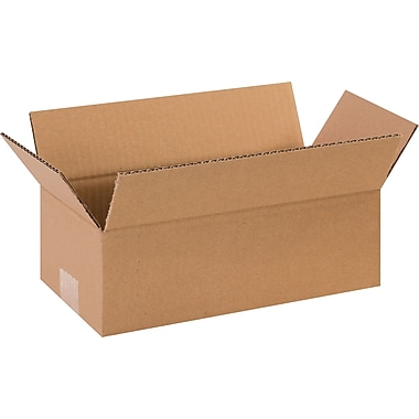 12in.(L) x 6in.(W) x 4in.(H) - Staples Corrugated Shipping Boxes, 25/Bundle