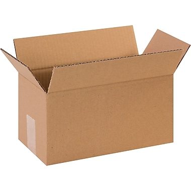12in.(L) x 6in.(W) x 6in.(H) - Staples Corrugated Shipping Boxes, 25/Bundle