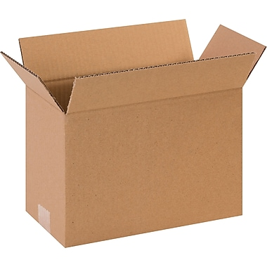 12in.(L) x 6in.(W) x 8in.(H)- Staples Corrugated Shipping Boxes, 25/Bundle