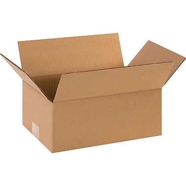 12in.(L) x 8in.(W) x 5in.(H)- Staples Corrugated Shipping Boxes, 25/Bundle