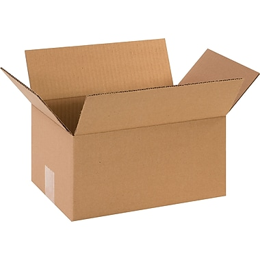 12in.(L) x 8in.(W) x 6in.(H)- Staples Corrugated Shipping Boxes