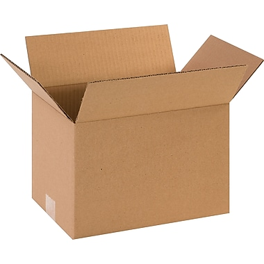 12in.(L) x 8in.(W) x 7in.(H) - Staples® Corrugated Shipping Boxes, 25/Bundle