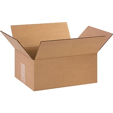12in.(L) x 9in.(W) x 5in.(H)- Staples Corrugated Shipping Boxes, 25/Bundle