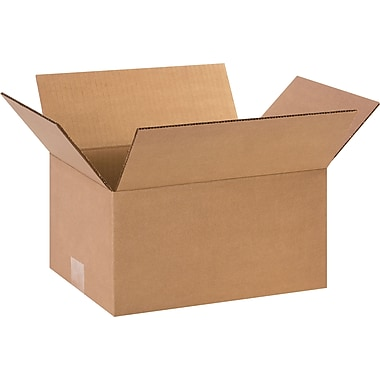 12in.(L) x 9in.(W) x 6in.(H)- Staples Corrugated Shipping Boxes