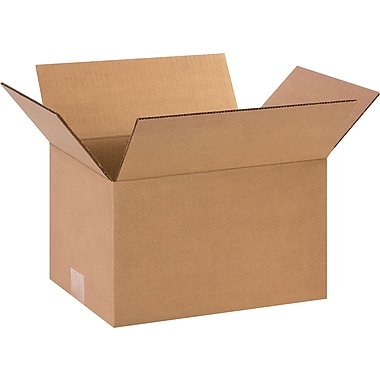 12in.(L) x 9in.(W) x 7in.(H)- Staples Corrugated Shipping Boxes, 25/Bundle