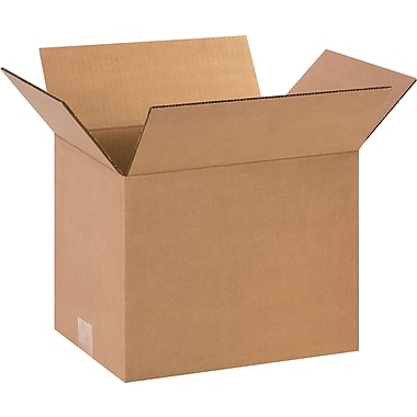 12in.(L) x 9in.(W) x 9in.(H)- Staples Corrugated Shipping Boxes, 25/Bundle