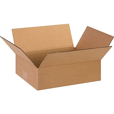 13in.(L) x 10in.(W) x 4in.(H)- Staples Corrugated Shipping Boxes