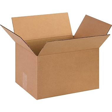 13in.(L) x 10in.(W) x 8in.(H)- Staples Corrugated Shipping Boxes, 25/Bundle